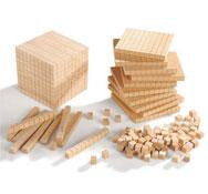 Base 10 de madera el conjunto