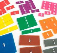 Set de fracciones transparentes escritura de fracciones cuadrados de fracciones lote de 9