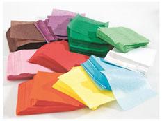 Hojas recortadas de papel de seda  cuadrado 10 cm aprox. 4600