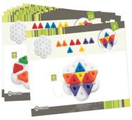 Babi fichas juego de apilar triangular lote de 16