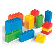 Construcción cubos soft  los ladrillos lote de 32