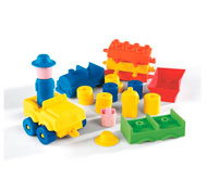 Construcción cubos soft  los vehículos lote de 30