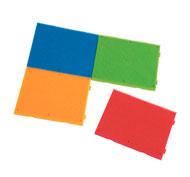 Juego de construcción bristle blocks lote de 4 placas lote de 4