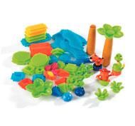 Juego de construcción bristle blocks lote de 56 ladrillos - la selva lote de 56