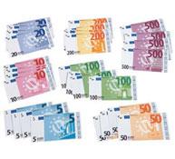 Billetes ficticios en euros lote de 28 billetes wesco el conjunto