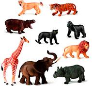 Animales de la selva lote de 9
