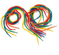 Cordones multicolores lote de 12