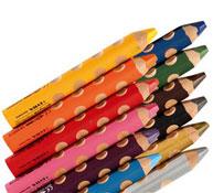Lápices de colores acuarelables groove triple one estuche de 12 lote de 12