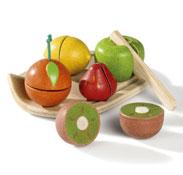 Alimentos para cortar ecológicos las frutas el conjunto