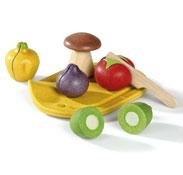 Alimentos para cortar ecológicos las verduras el conjunto