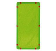 Plastipanel con cortina de tela rectangular la unidad