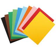 Estuche canson hojas de papel de colores 185 g lote de 10