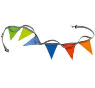 Cuerda de paseo con banderines para 6 niños la unidad