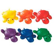 Animales lastrados arco iris las tortugas lote de 6