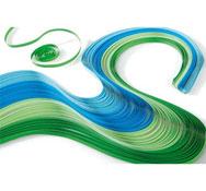 Bandas de papel para filigranas colores fríos lote de 100
