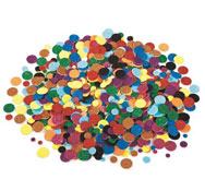 Formas de espuma adhesivas con purpurina redondas aprox. 1000