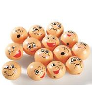 Cabezas emociones de madera lote de 16