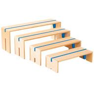 4 bancos encajables de colores maxi lote lote de 4