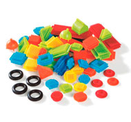Juego de construcción bristle blocks lote de 50 piezas lote de 50