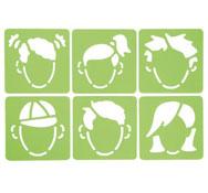 Plantillas bases rostros lote de 6