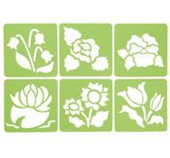 Plantillas flores lote de 6