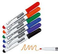 Rotuladores de tinta borrado en seco punta mediana lote de 6
