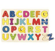 Encaje alfabeto mayúsculas la unidad