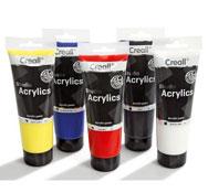 Pintura acrilica 5 x 250 ml colores primarios lote de 5