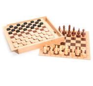 Caja de damas y ajedrez el juego