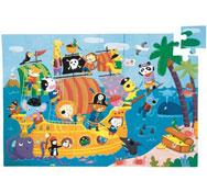 Puzzle gigante el barco pirata la unidad