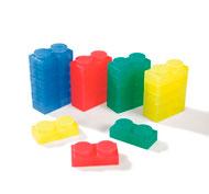 Bloques de construcción flexibles y translúcidos lote de 24