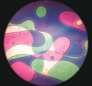 Discos para el proyector mathmos líquido violeta/verde la unidad