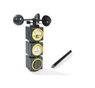 Estación meteorológica anemómetro, pluviómetro y termómetro el conjunto