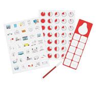 Kit de pictogramas magnéticos el conjunto