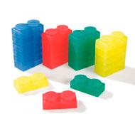 Maxi lote bloques de construcción blandos y translúcidos lote de 72