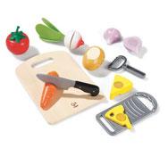Alimentos para cortar el conjunto
