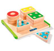 Puzzle encajable formas para ordenar y apilar la unidad