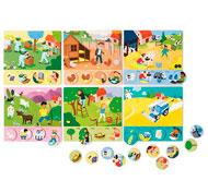 Bingo productos de la granja el juego