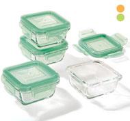 Cajas herméticas de vidrio 16 cl lote de 4