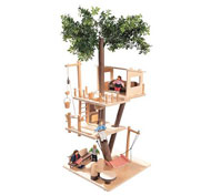 Cabaña de muñecas en los árboles el conjunto