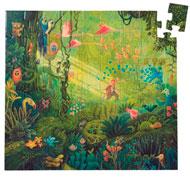 Puzzle aventura imaginaria en la selva la unidad