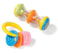 Conjunto de sonajeros de actividades colores pastel lote de 2