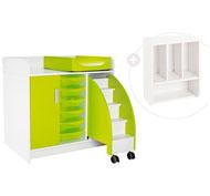 Kit mueble cambiador kazéo l: 104 cm el conjunto