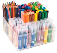 Estuche escolar 138 rotuladores y lápices de colores el conjunto