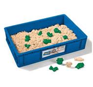 Arena para moldear lote de 6 kg + 10 moldes la unidad