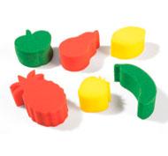 Esponjas gigantes frutas lote de 6