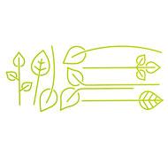Pegatina mural las hojas la unidad