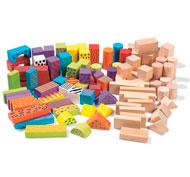 Bloques de construcción multicolores lote de 100
