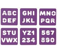 Plantillas alfabeto y cifras lote de 6