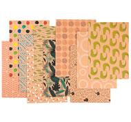 Hojas de papel kraft con diseños diseños diversos lote de 20
